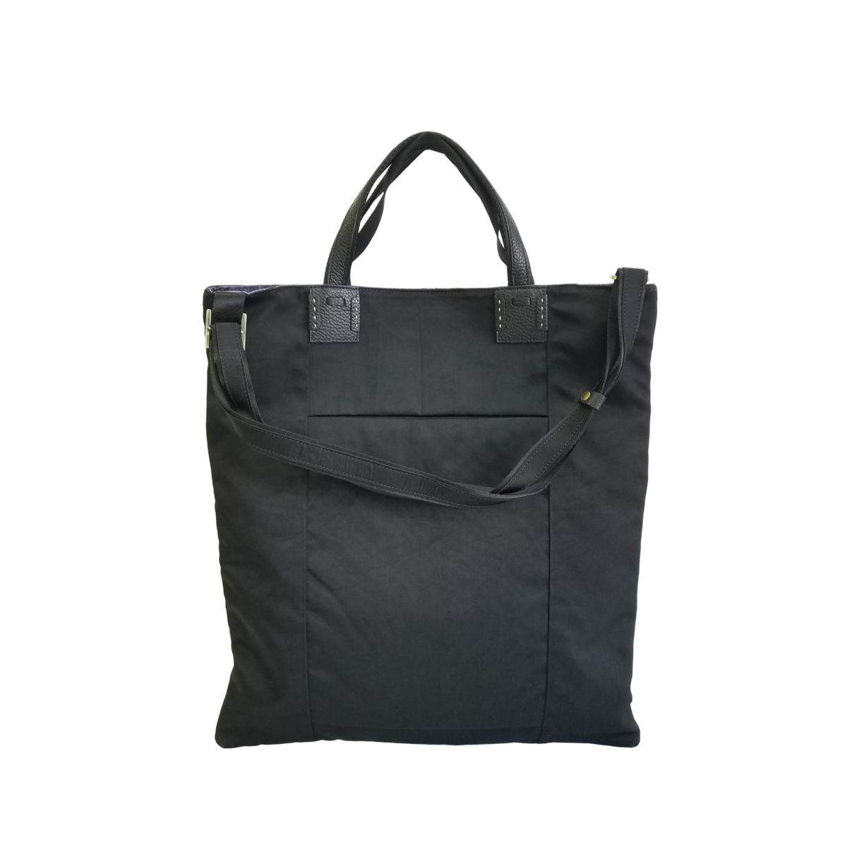 Wrinkle 3face Tote Black
