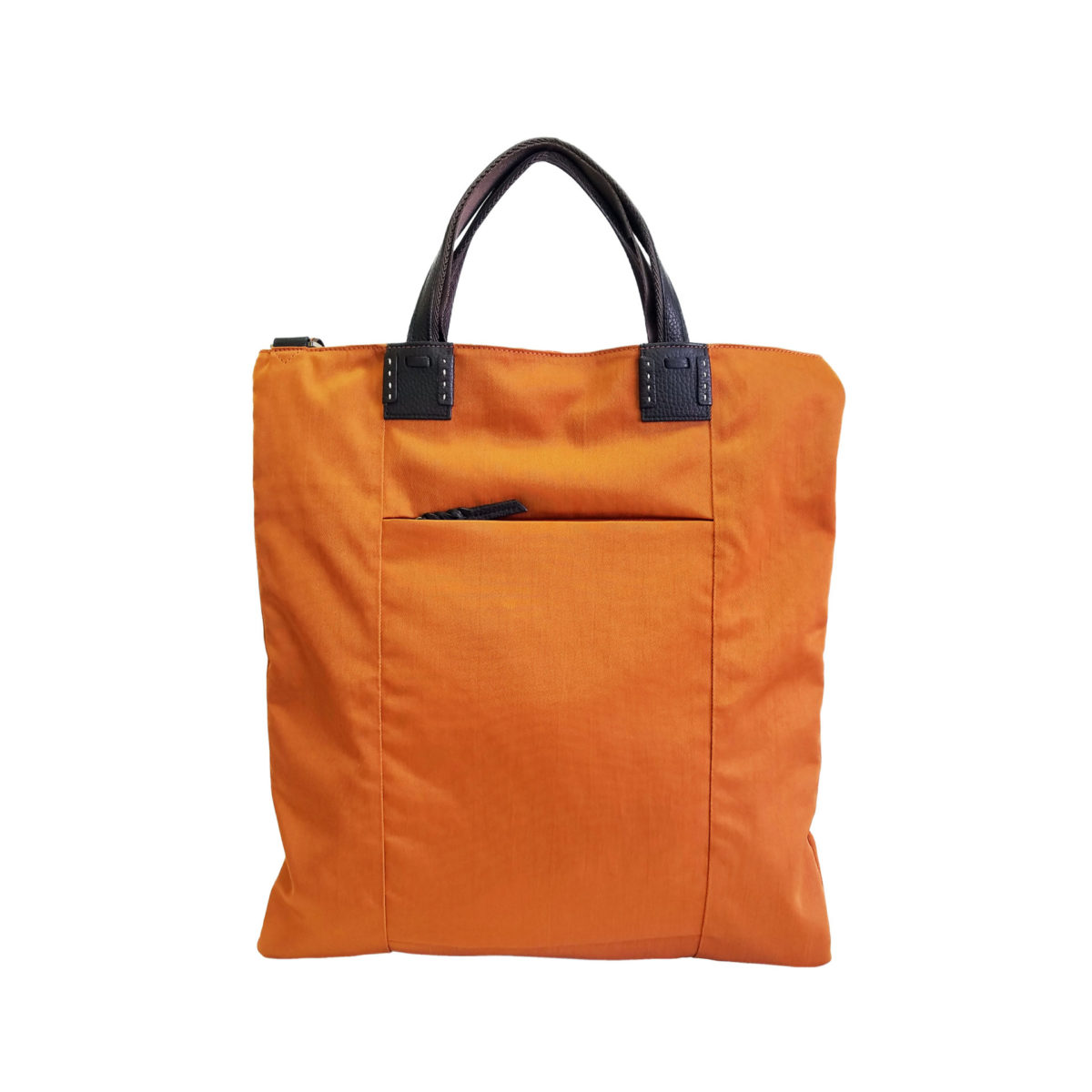 Wrinkle 3face Tote Orange