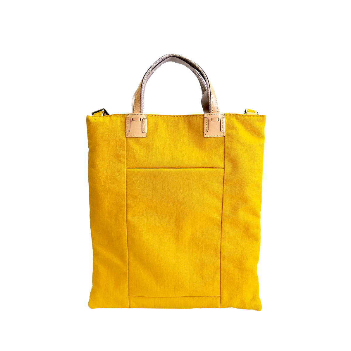 Wrinkle 3face Tote YELLOW