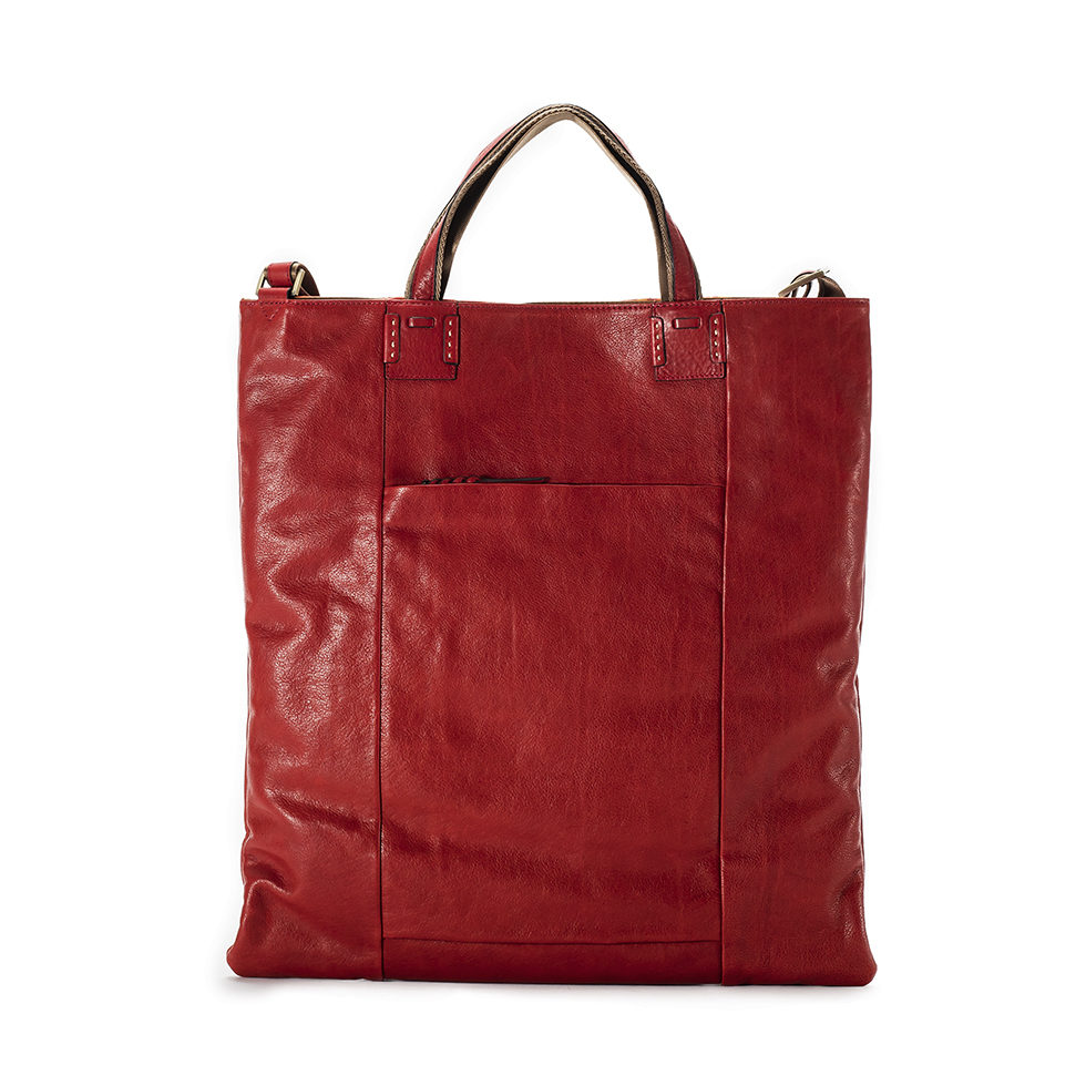 Cerberus 3 face tote COLOR:WINE
