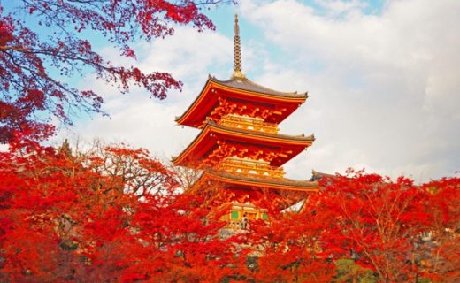 清水寺と紅葉