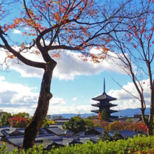 秋の八坂の塔