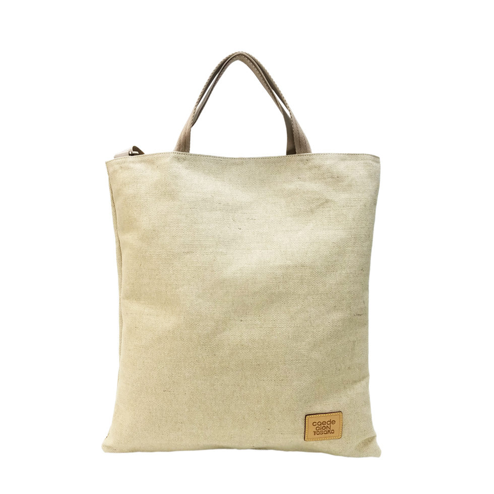 maikopuzzle 3face tote ivory