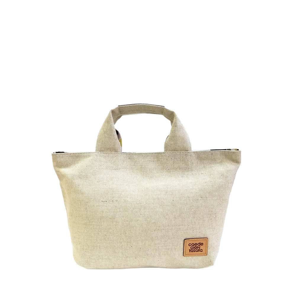 maikopuzzle tote mini ivory