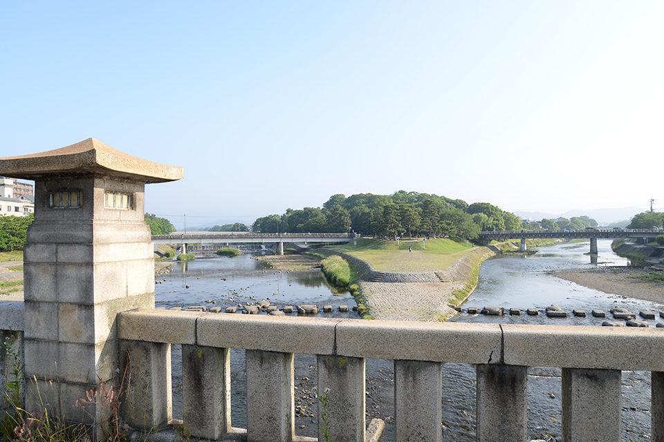鴨川的三角洲,領略京都的四季